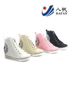 Women Lady Fashion Casual White Black Canvas Popular Shoes (bfm375) pictures & photos