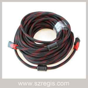 Two Magnetic Ring Copper-Clad Steel Knit Coaxial HDMI Cable pictures & photos