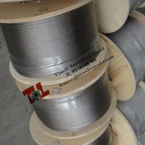AISI 304 Stainless Steel Wire Rope 7X19 6mm pictures & photos