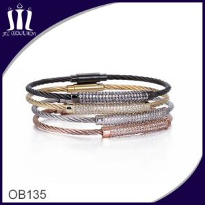 Vacuum Plated Cable Wire Bracelet pictures & photos
