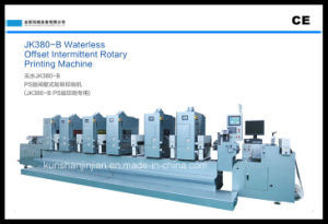 BV Waterless Offset Intermittent Label Printing Machine (JJ380) pictures & photos