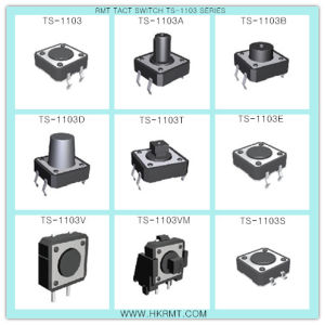 Tactile Switch (TS-1103S) with SMD Type pictures & photos
