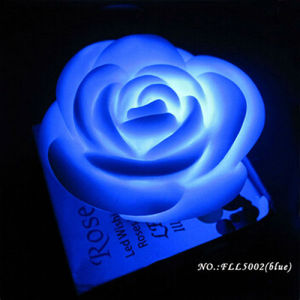 Factory Wholesale Romantic Rose Flower LED Candle with Multi Color