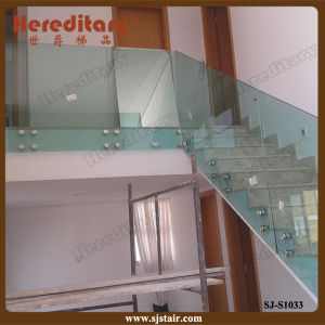 Elegant Frameless Glass Railing System for Staircase (SJ-S1033) pictures & photos
