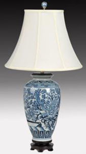 Chinese Antique Porcelain Desk Lamp pictures & photos