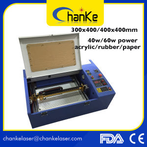 Ck400 40W Mini CO2 Laser Acrylic Rubber Cutting Machine pictures & photos