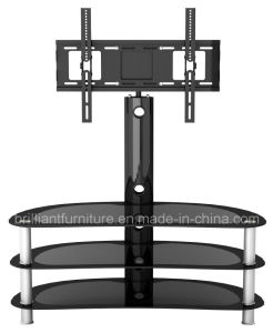 Glass Living Room Furniture LCD TV Stand with Bracket (BR-TV386A)