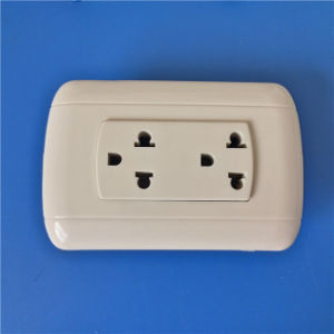 America Style ABS Material Iron/Copper Wall Socket (W-061) pictures & photos