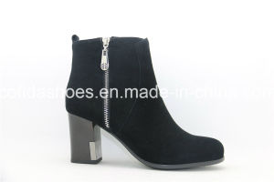 Hot-Sale High Heels Women Boot with Fashion Zipper pictures & photos