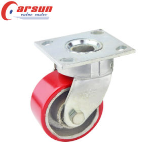 Heavy Duty Kingpinless Swivel Caster PU on Cast Iron Core Wheel pictures & photos