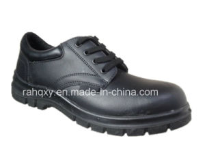 Shiny Smooth Leather Safety Shoes Low Cut Ankle (HQ10001) pictures & photos
