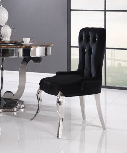 Diamond Good Fabric Modern Dining Chair with Armrest pictures & photos