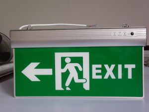 Emergency Exit Light with UL Certificate Tag Lamp Evacuation Indicator Lamp pictures & photos
