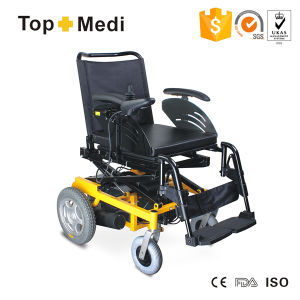 Topmedi Seat Lifting Functional Deluxury Electric Power Wheelchair for Disabled Handicapped People pictures & photos