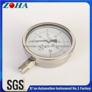 4 Inch Diameter Ss Pressure Meter with Radial Direction pictures & photos