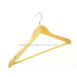 Wholesale Top Wooden Clothes Hanger for Man Garment Furniture Hanger with Bar pictures & photos