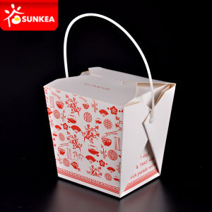 Paper Packaging Printing Disposable Handled Container pictures & photos