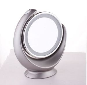 Hot Sales Round ABS Plastic Framed Magic Rotating Vanity Mirror with LED Light Double Sided Mirror pictures & photos