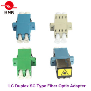 LC Duplex Singlemode/APC Multimode/Om3/Om4 Sc Type Fiber Optic Adapter pictures & photos