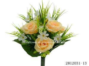 Artificial/Plastic/Silk Flower Rose Bush (2812031-13) pictures & photos
