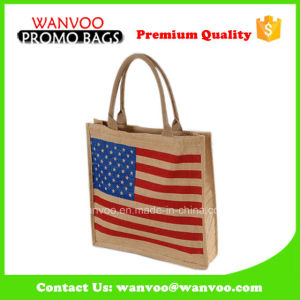 Custom Eco Friendly Jute Bag Hemp Handle Bags for Shopping pictures & photos