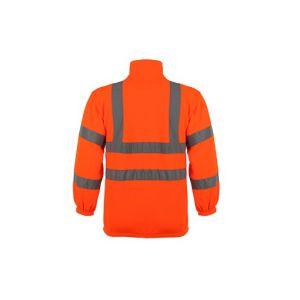 Hi Vis Hooded Reflective Hooded Sweatshirt 100% Polyester Fleece pictures & photos