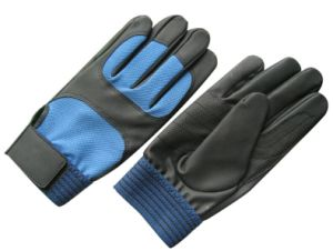PU Double Palm Mechanic Working Glove pictures & photos