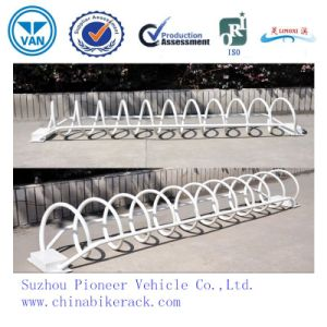 High Quality Spiral White Powder Coated Bike Racks pictures & photos