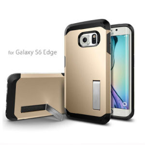 Hot Shockproof Mobile Phone Case Cover Built-in Stand for for Samsung Galaxy S6 Edge