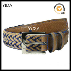 Fashion Wide Webbing Woven′s Leather Belt for Men (YD-15037)