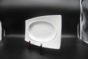 """Ceramic Dishes for Hotel Restauran 12 """"Golden Eye Plate of The Long Square pictures & photos"""