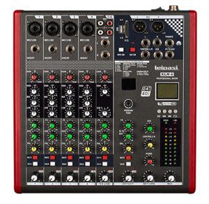 Professional Audio 3EQ 6 Channel MP3 Audio Mixer Klm6 pictures & photos