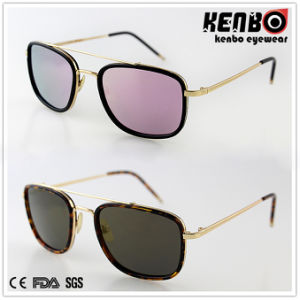 New Desgin Metal Sunglasses with Flat Lens CE FDA Km15231 pictures & photos