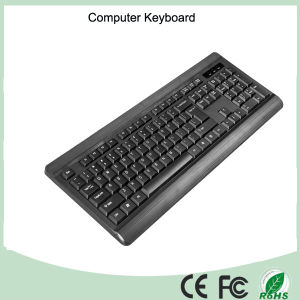 Spanish Layout Normal Wired USB Computer Keyboard (KB-1802) pictures & photos