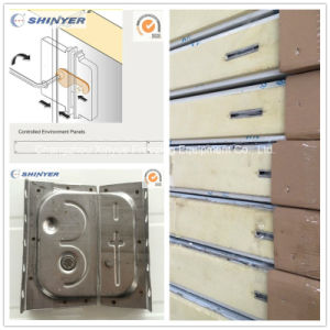 100mm Camlock Polyurethane PU Sandwich Panel with Color Steel Plate pictures & photos