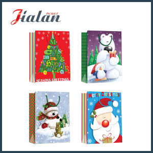 Logo Printed Christmas Gift Shopping Packing Cheap Custom Paper Bag pictures & photos