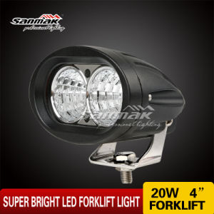 """4"""" 20W Super Safety Oval Blue Light LED Headlight pictures & photos"""