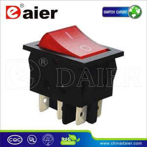 24V Red Light 24 Volt Rocker Switch pictures & photos