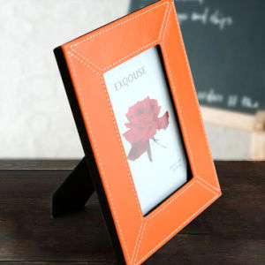 Orange Red PU Leather Picture Frame pictures & photos