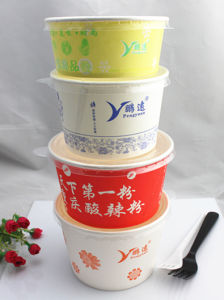 Wholesale Take Away Disposable Paper Soup Bowl with Lid pictures & photos