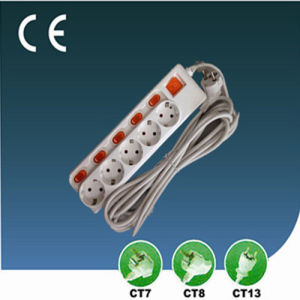 Five Way European Style Extension Socket with Switch