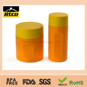 HDPE Bottle Package with PP+TPR Lid, Three Sizes and Colors Are Available