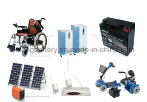 12V33ah High Quality Solar Power Battery pictures & photos