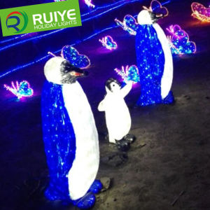 Illusion 3D Light LED Toy Penguin Motif Outdoor Decorative Light pictures & photos