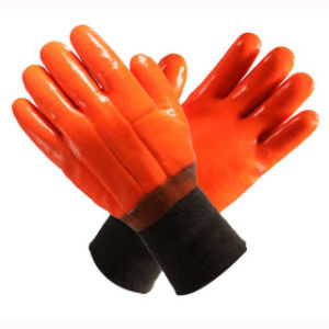 Orange 2 Layers Full Dipped PVC Household Gloves pictures & photos