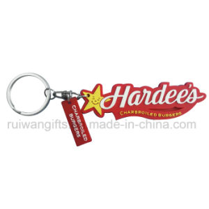 Embossed Logo Soft PVC 3D Keychain, 3D Rubber Keychain, Soft PVC Keyring pictures & photos