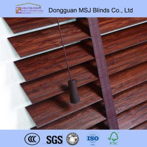 Bamboo Material Manual Type Venetian Blinds pictures & photos