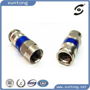 [New] 100% Metal RG6 Coaxial Cable Waterproof F Connectors Sealed Permanent pictures & photos