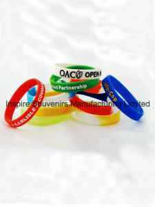 Silicone Wristband with Stamped Logo (BS-001) pictures & photos
