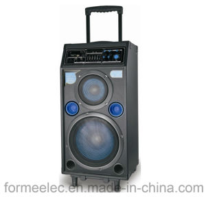 Multi Media Karaoke Speaker Trolley Subwoofer Amplifier RMS160W pictures & photos